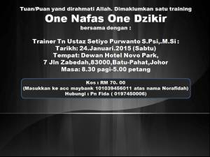 Training One Nafas One Dzikir