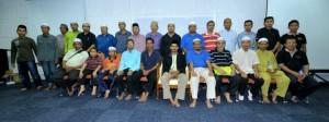 Pelatihan bahagia dengan solat bersama Bapak bapak di ILSAS Bangi malaysia
